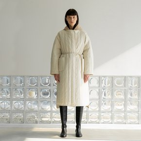 string padding coat (cream)