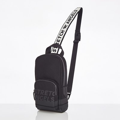 스트레치엔젤스[M.E.S.H] One pocket SQ sling-bag (Black)