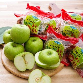 [사과랑] 껍질째먹는 햇 아오리 세척사과 3kg(실중량/18-23내)
