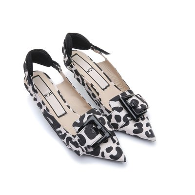[파주점] DECOLTE NUDE LEOPRINT SLING BACK