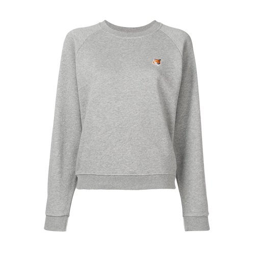 [PRE-ORDER] 20SS SWEATSHIRT FOX HEAD PATCH GREY MELANGE WOMEN AW00303KM0001