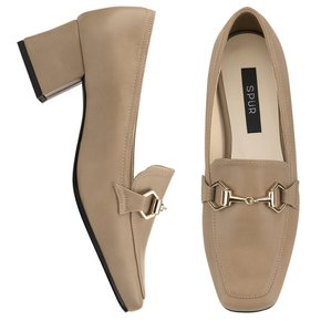 SPUR 로퍼 belt heel loafer 베이지