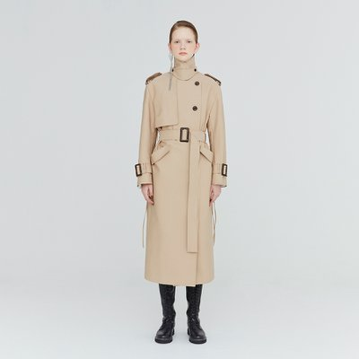 [가브리엘리] 19FW BACK-TIE TRENCH COAT - BEIGE