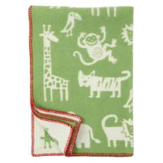 Jungle wool blanket 정글 울 담요 green
