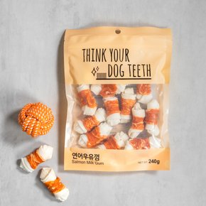 Think your Dog Teeth 연어우유껌 15P