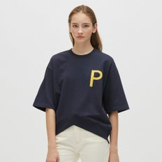 [19S/S][PLAC] WOMENS NEW V-CUTTED HEM LINE SHORT SLEEVE SWEAT SHIRTS (PWON3WSL70W0B7)