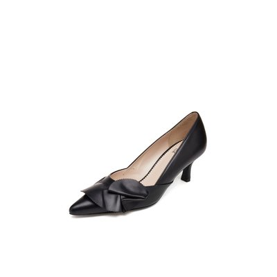 Ruffle pointed toe pumps(black) DG1BX18537BLK