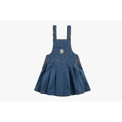 [20% SALE] Daisy overall pleated denim skirt