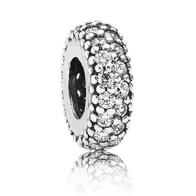 판도라■케이스 쇼핑백 증정 Abstract silver spacer with cubic zirconia 791359CZ