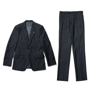 silk crespino texture suit_CWFBW19733GYD_CWFCW19733GYD