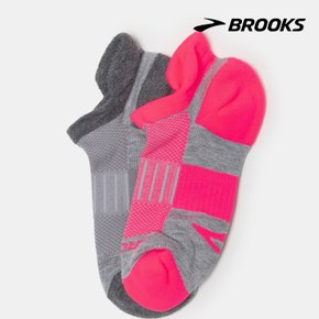 [BROOKS] Unisex Ghost Midweight Two-Pack 그레이 양말 (BX9YKTA023)