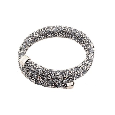 스와로브스키  Crystaldust Bangle Double, Gray 5237762