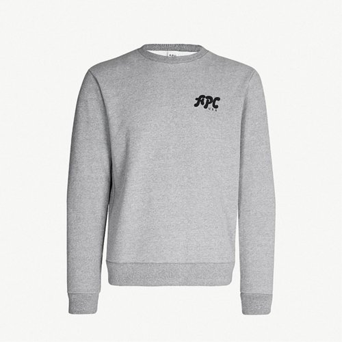 A.P.C. U.S. JACQUES LOGO SWEAT GREY COCQZ-H27481