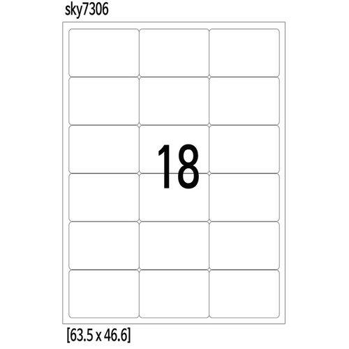 라벨지 18칸 63x46 100매-스카이라벨 무료배송  84ec76ebda39