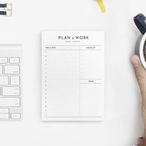 PLAN & WORK daily planner