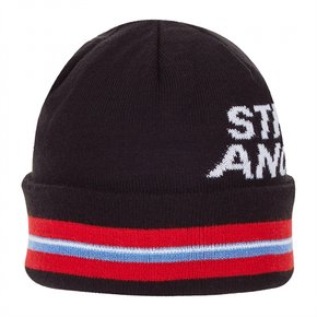 ★SXCP09841★S.A reversible stripe beanie_BLACK