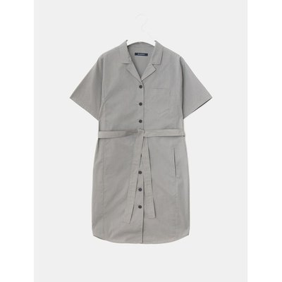 [Special Off 30%][LIME BEANPOLE] 브라운 오픈 칼라 버튼 다운 원피스 (BF8271N03D)