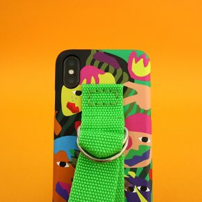 SUN CASE GRAPHIC HUMAN GREEN YELLOW GREEN(BELT)