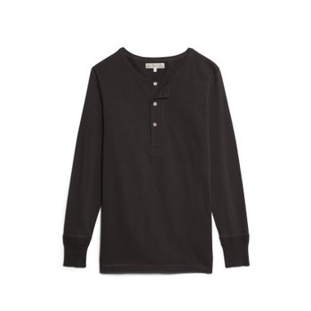 206 HENLEY LONG SLEEVE CHARCOAL