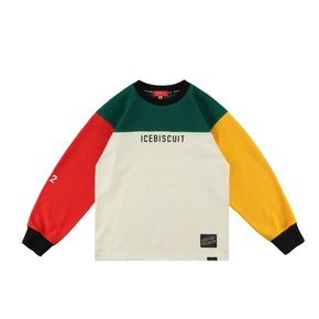 Icebiscuit letter point color block tee