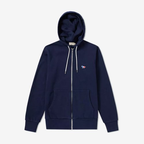 [PRE-ORDER] 19FW ZIP HOODIE TRICOLOR FOX PATCH NAVY MEN AM00304KM0001