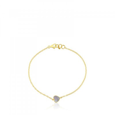 [최초출시가 323,000원]Gold and Mother-of-pearl XXS heart Bracelet/팔찌/812781000