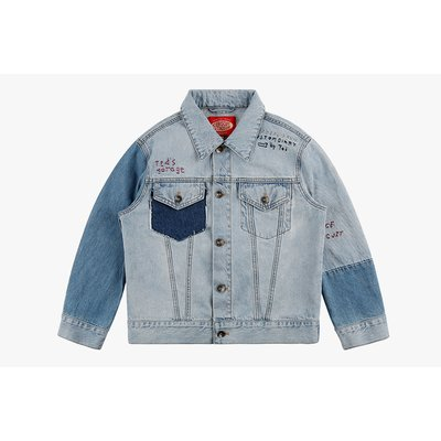 [20% SALE] Ted graffiti denim jacket