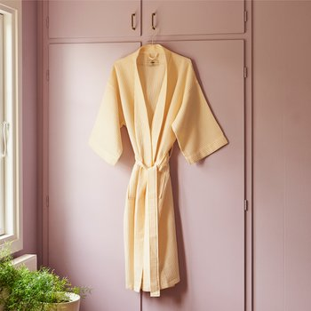[주문 후 3개월 소요] Waffle Bathrobe Soft Yellow