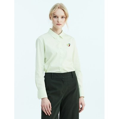 [Special Off 30%] [LIME BEANPOLE] 애플 그린 베이직 스트라이프 셔츠 (BF8264N01K)