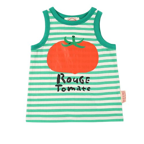 Rouge tomato baby stripe tank top / BP7232104