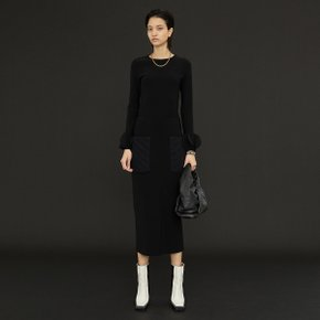 Clair Quilted Pocket Skirt_Black