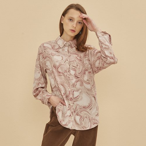 COME PATTERN BLOUSE PINK