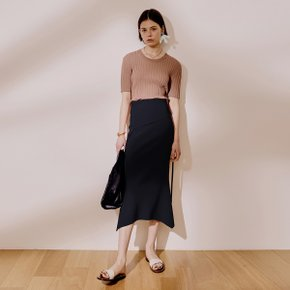 Panel Mermaid Skirt_Dark Navy