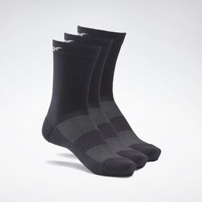 리복 남여공용 액티브 파운데이션 미드-크루 양말 GH0415 REEBOK UNISEX FITNESS & TRAINING ACTIVE FOUNDATION MID-CREW SOCKS 3 PAIRS