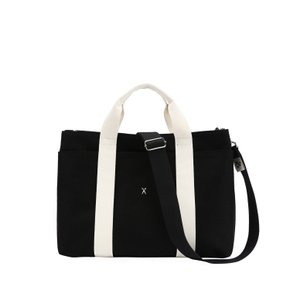 Stacey Daytrip Tote Canvas M Black(Ivory) (0JSJ5TT40208F)
