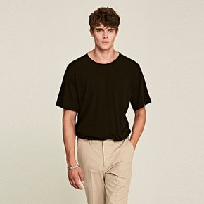 [DEANS] FLEXIBLE ROUND T-SHIRTS_BLACK