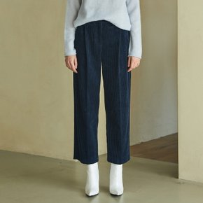[블랭크공삼]corduroy tuck pants (navy)