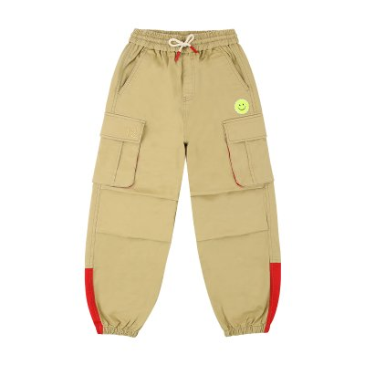 [20% SALE] Tennis smile color block cargo pants