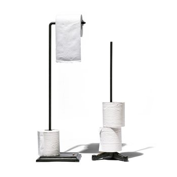 TOILET PAPER HOLDER ANGLE Black