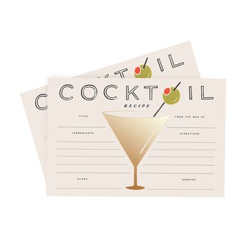 COCKTAIL RECIPE CARD (12장)