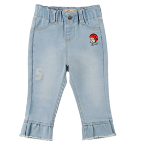 Ruddy baby girl ruffle denim pants  BP8131220