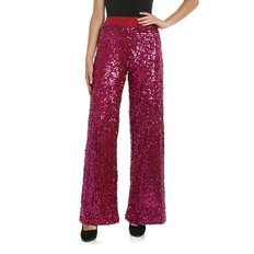 [패로슈] Red jersey trousers with fuchsia sequins (RUNWAY D230590 042)