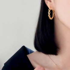 (92.5 silver) gold loop earring