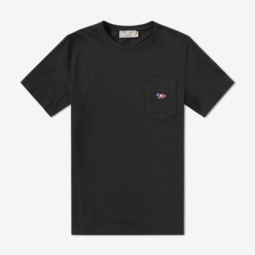 [PRE-ORDER] 19FW TEE-SHIRT TRICOLOR FOX PATCH BLACK MEN AM00102KJ0010