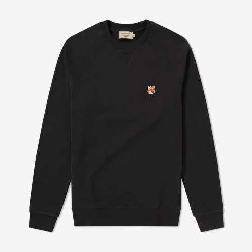 [PRE-ORDER] 19FW SWEATSHIRT FOX HEAD PATCH BLACK MEN AM00303KM0001