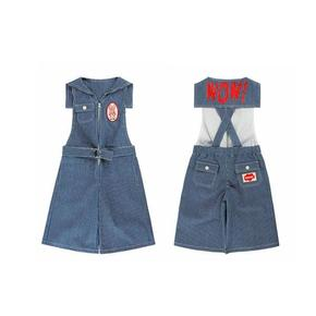 베베드피노/Wow sailorcsllar over knee length denim overall BP9106450
