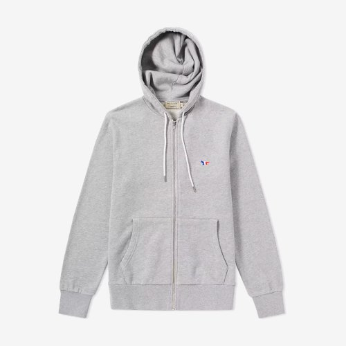 [PRE-ORDER] 19FW ZIP HOODIE TRICOLOR FOX PATCH GREY MEN AM00304KM0001