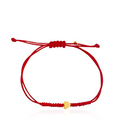 [최초출시가 165,000원]Red Cord and Gold Sweet Dolls XXS heart Bracelet/팔찌/812781050