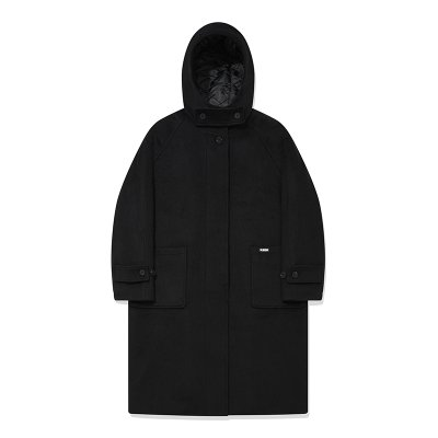 KIRSH HOOD WOOL LONG COAT BAKC01