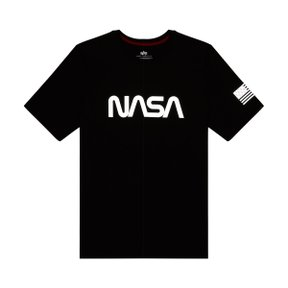 NASA LOGO REFLECTIVE TEE BLACK